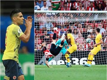 La reacción de Falcao tras el golazo de Aduriz al Barcelona