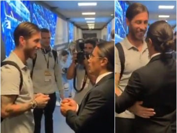 Sergio Ramos saluda a Salt Bae