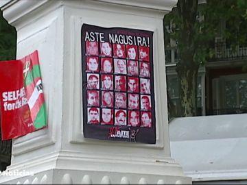 La Audiencia Nacional ordena retirar fotografías de presos de ETA de una caseta de Bilbao