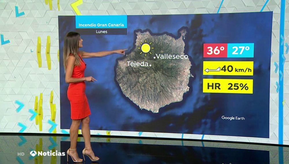 La meteorología dificulta la extinción del incendio en Canarias