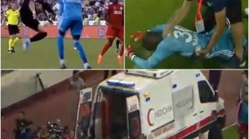 Terrible choque entre el portero y el delantero en Turquía