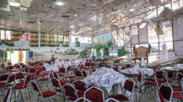 Así quedó la sala tras el atentado