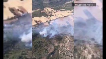 Dos incendios forestales en Guadalajara movilizan a 12 medios aéreos y cerca de 160 efectivos
