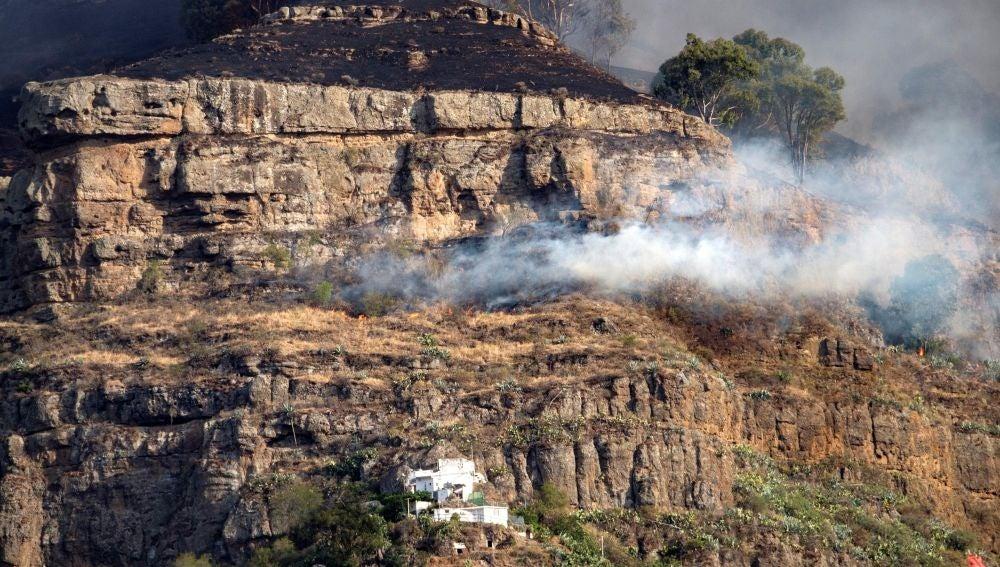 El incendio forestal declarado en Gran Canaria