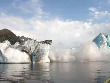 Colapso de un glaciar en Alaska