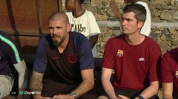 Víctor Valdés se retira de la Otten Cup por el alto riesgo de lesión