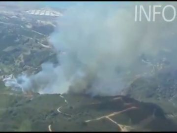 Activado el Plan de Emergencias por Incendios Forestales debido al fuego en un paraje de Estepona