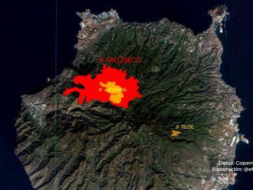 Canarias sufre los efectos de tres incendios en poco más de una semana