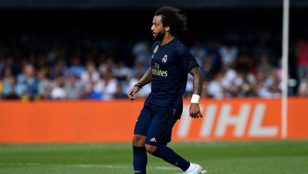 Marcelo en el partido contra el Celta
