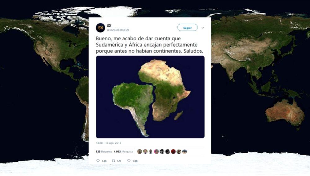 Un tuitero descubre Pangea