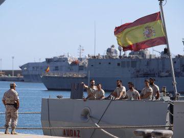 Zarpa el buque español Audaz para recoger a los migrantes del Open Arms