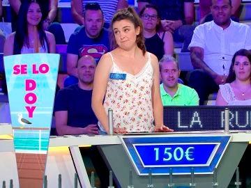 La mala suerte de Alba para quedarse sin nada en 'La ruleta de la suerte'