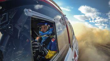 Fernando Alonso, subido al Toyota