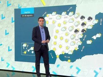 Descenso en los termómetros y fuertes tormentas en Aragón y Cataluña