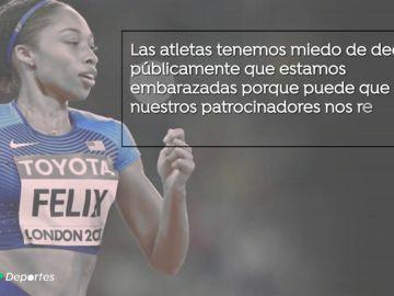"""Allyson Felix gana la batalla a Nike contra la discriminación por ser madre: """"Las atletas tenemos miedo"""""""