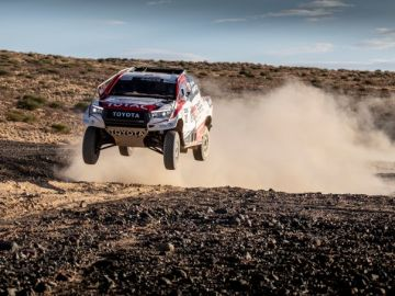 El Toyota de Alonso en el Dakar