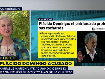 Karmele Marchante redacta en un artículo un episodio que vivió con Plácido Domingo