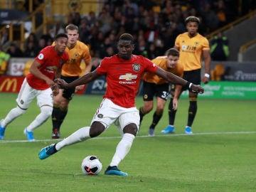 Pogba falló el penalti contra el Wolves