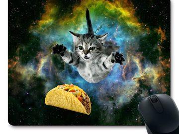 Alfombrilla de ratón con dibujo de un gato