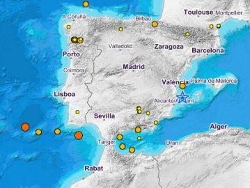 Terremoto de magnitud 2,9 en Jávea