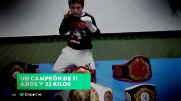 """Ivan Galán el 'Gladiator' español de Muay Thai con tan solo once años: '""""No tengo miedo"""""""