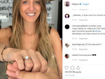 Recorte de la imagen de la cuenta de Instagram de Willyrex