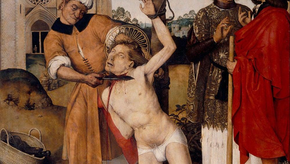 """""""Degollación de San Cucufato"""", Ayne Bru ( Museo Nacional de Arte de Cataluña, Barcelona)"""