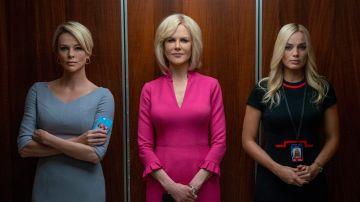 Charlize Theron, Nicole Kidman y Margot Robbie en 'Bombshell'