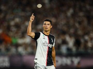 Cristiano Ronaldo en un partido con la Juventus