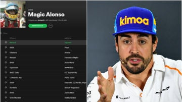 La lista de 'Magic' Alonso en Spotify