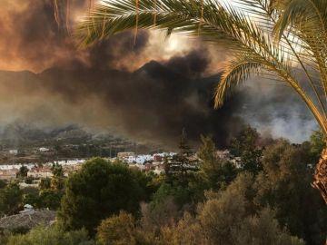 Imagen del incendio en Marbella