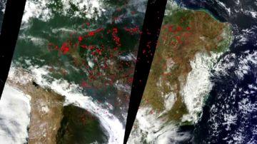 La Nasa muestra cómo arde el Amazonas