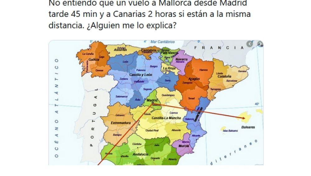 Bromea con la localización de Canarias