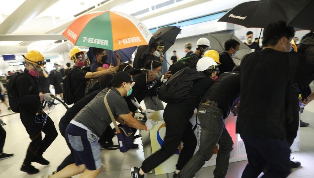 Manifestación en Hong Kong