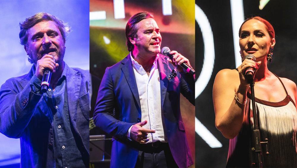 Juan Peña, A Dos Velas y Rosario Mohedano en el Starlite de Marbella