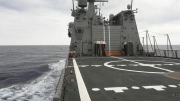 Vista del buque Audaz
