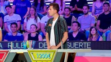 El concursante que con un lanzamiento hizo 1.200 euros en 'La ruleta de la suerte'