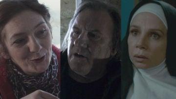 Corinne Masiero, Gérard Depardieu y Victoria Abril en 'Inspectora Marleau'
