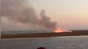 Una avioneta se estrella en Huelva