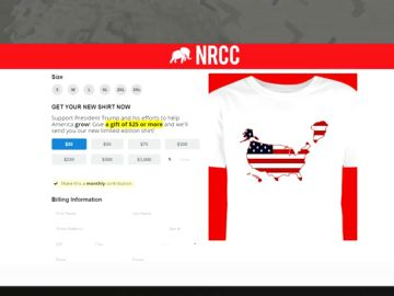 A la venta camisetas con un mapa de Estados Unidos que incluye Groenlandia
