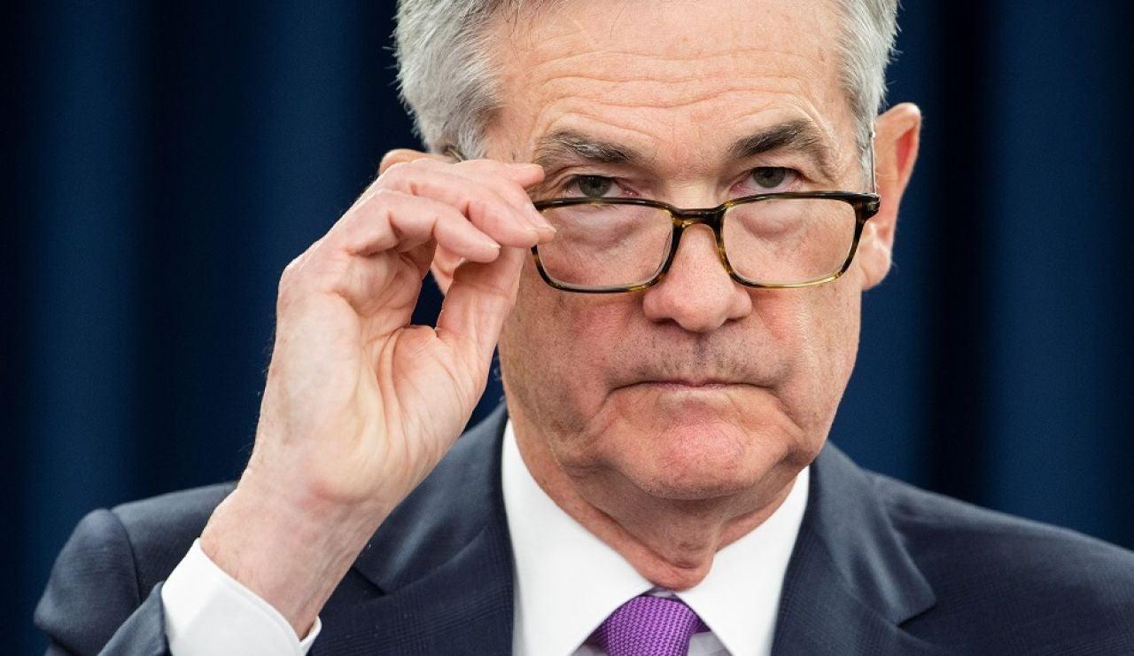 El presidente de la Reserva Federal (Fed) de Estados Unidos, Jerome Powell, durante una rueda de prensa