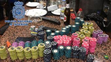 Desarticulado un club clandestino de póker en Madrid