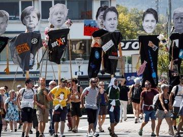 Manifestación de la Contracumbre del G7 que marchó en Hendaya el pasado sábado