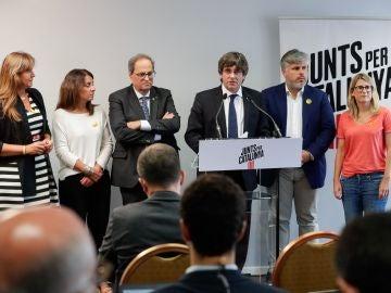 """Torra y Puigdemont piden retomar la iniciativa tras la sentencia del """"procés"""""""