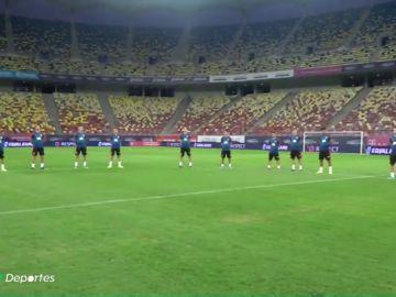 La Selección Española guarda un minuto de silencio en honor a Blanca Fernández Ochoa