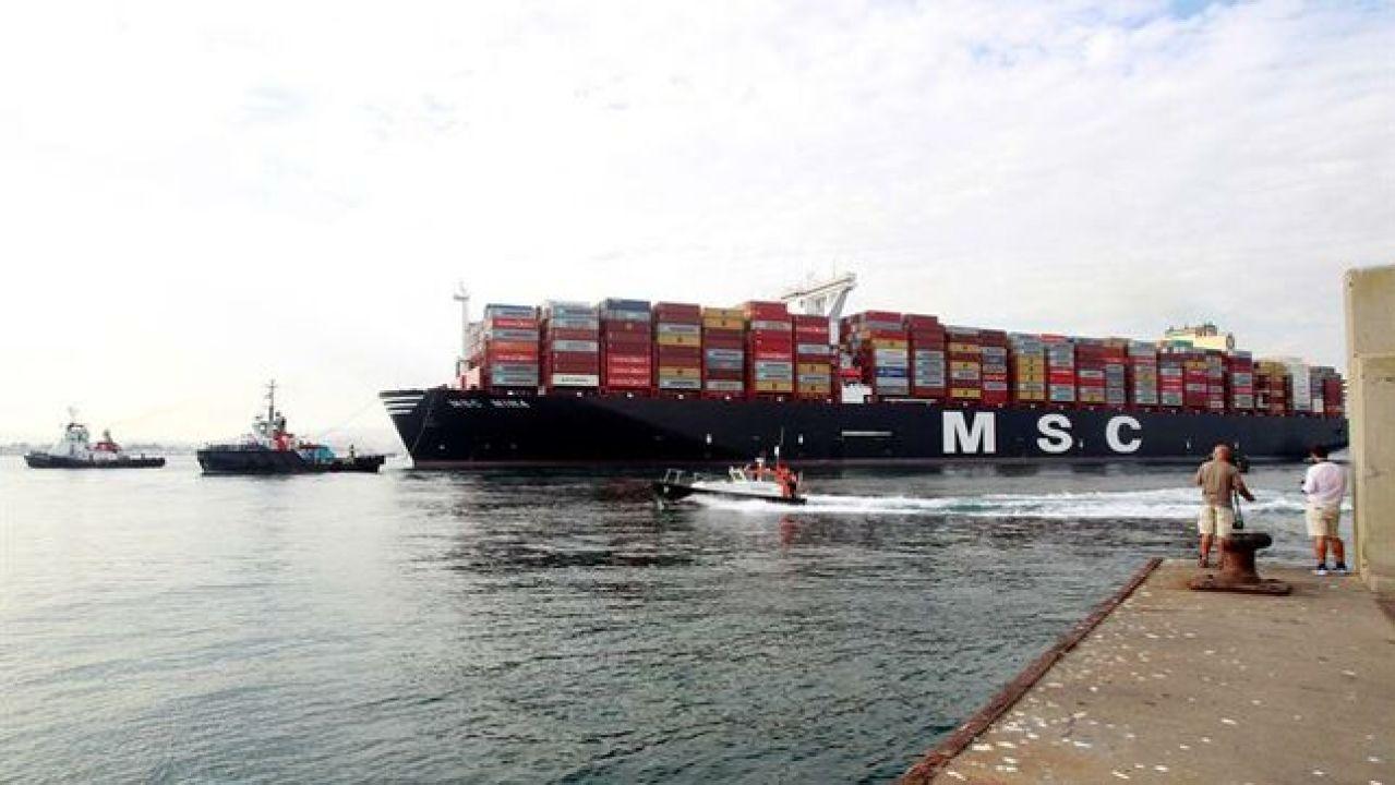 Recala En El Puerto De Algeciras El 'MSC Mina', El Mayor