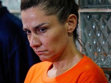 La mujer detenida en el aeropuerto de Manila