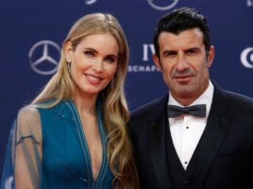 Luis Figo y Helen Svedin