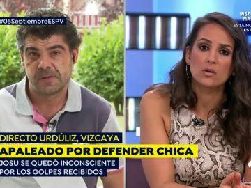 Hombre apaleado por defender a dos chicas en Vizcaya