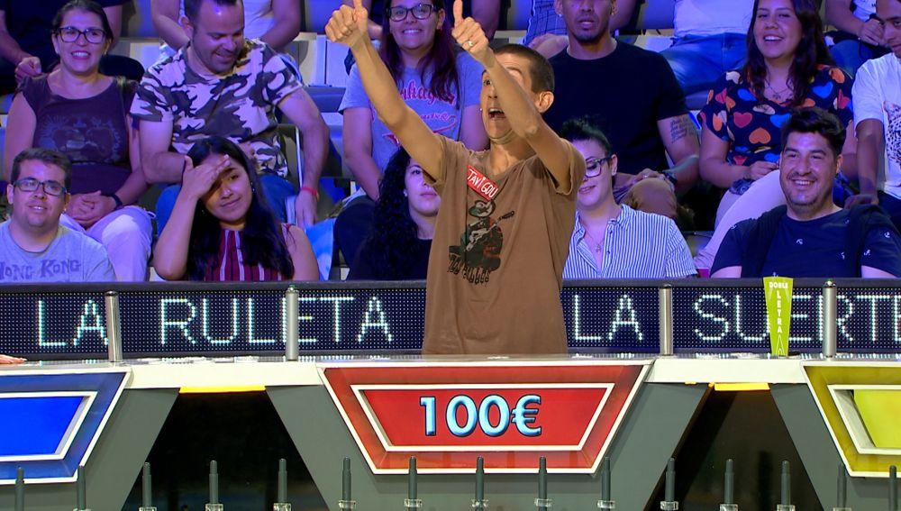 Concursante de 'La ruleta de la suerte'